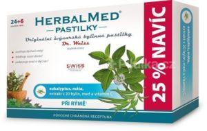 HerbalMed Dr.Weiss pastilky Eukalyptus-máta