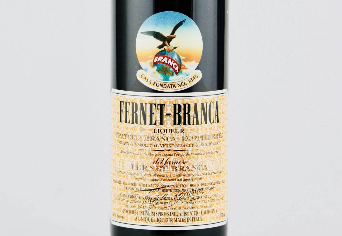 Etiketa na Fernet Branca